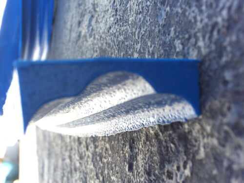 """1 Concrete Cement Countertop Triple Round Edge Form Liner Stamp mat 2/""""X8/' NEW"""