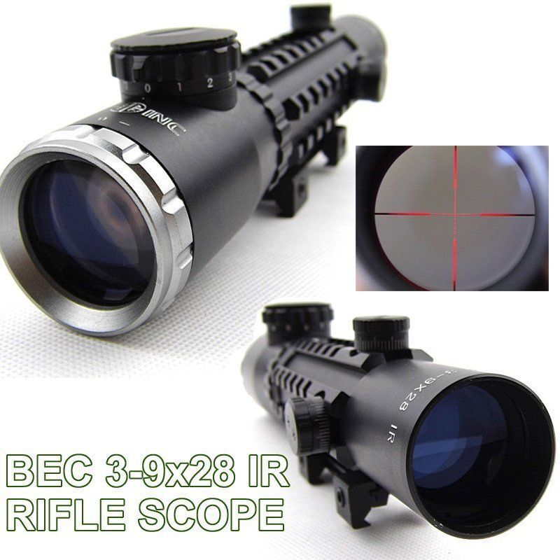 Tactical Sight 3-9X28IR Rifle Scope Sight Mill-Dot IR Reticle 1 4 MOA 20mm Rail