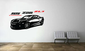 Image is loading Camaro-SS-Z28-ZL1-Racing-Sport-Car-Wall- & Camaro SS Z28 ZL1 Racing Sport Car Wall Decal Art Mural Vinyl ...