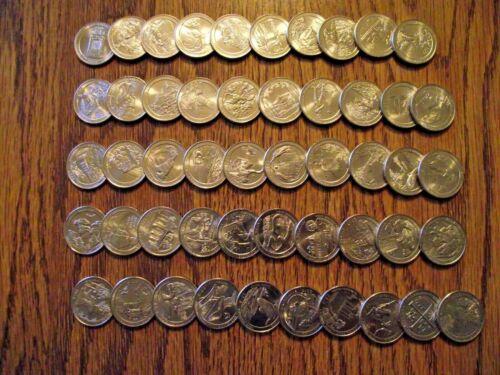 FREE S/&H 55 of 56 2010-2020  NATIONAL PARK 55 COIN QUARTER SET P Mint UNC