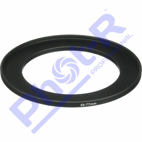 Phot-R 58-77mm Metal Stepping Up Ring 58mm-77mm 58-77 Step-Up Ring Adapter