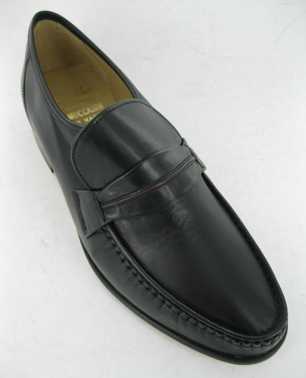 THOMAS BOSTON BLUNT BLACK LEATHER SLIP ON Schuhe STYLE BOSTON THOMAS f5d4d6