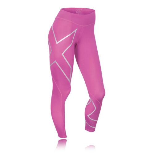 Haut Femme 2XU Mid Rise Compression Running Collants Pantalon Pantalon Rose