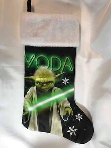 Star Wars Yoda Black & Green Satin Christmas Stocking