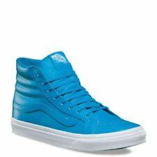 VANS Sk8 Hi Slim Neon Leather Blue