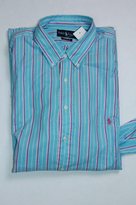 Polo Ralph Lauren bluee Shirt Small Pony 2XLT  2X Tall Classic Fit Medium Weight