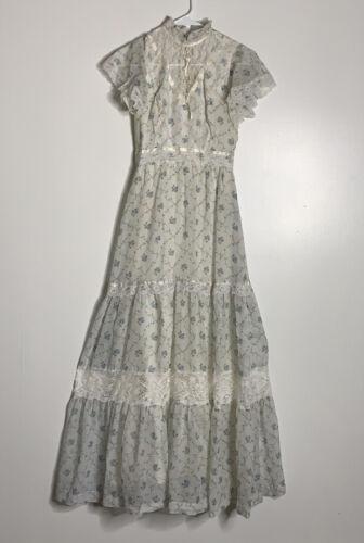 Vintage Boho Prairie Dress Gunne Sax Vibes