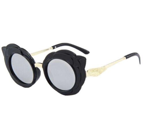 2020 Fashion Sunglasses Cat Eye Metal PC Children's Glasses Frame UV400 Black