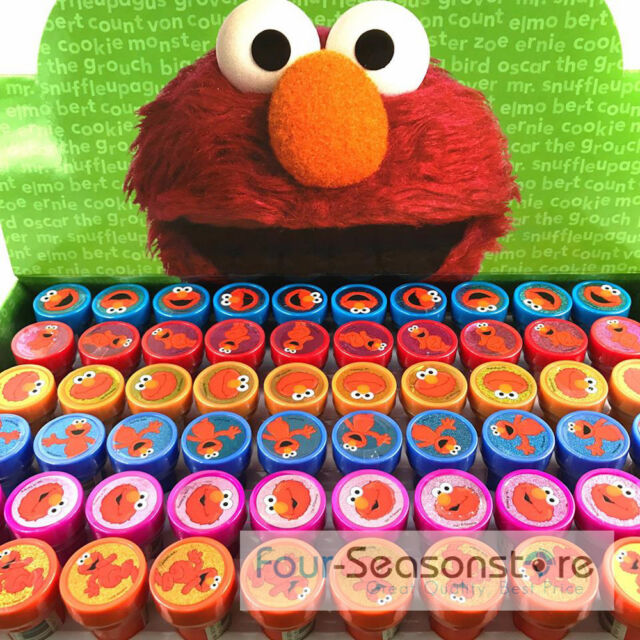 Sesame Street Elmo Stamps Stampers Self-inking Birthday Party Favors 60ct