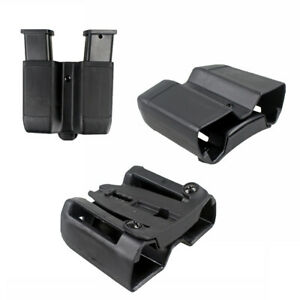 US-Dual-Mag-Holster-Quick-Draw-Double-Stack-Mag-Pouch-Holder-For-9mm-to-45-cal