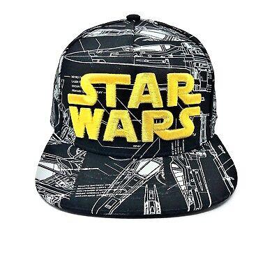 Yoda Star Wars Disney Ball Cap Snap Back NWT