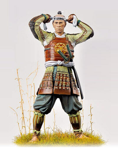 Ashigaru 1600 75mm Tin Painted Toy Soldier Miniature   Art Quality