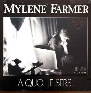 "Mylène Farmer 12"" A Quoi Je Sers... (Club Remix) - Original 1989 - France (G/VG"