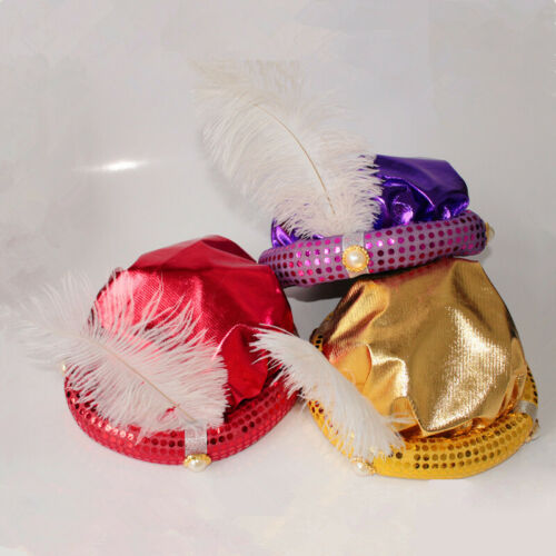Children or Adult Halloween Party Cosplay Aladdin Hat Aladdin/'s Hats Feather Cap