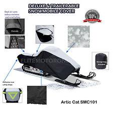 Arctic Cat ZR ZRT 500 600 800 900 Trailerable Snowmobile Sled Cover Grey/black