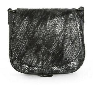 fea800b16e Sac besace en cuir imprimé python nuance de gris IKKS | eBay
