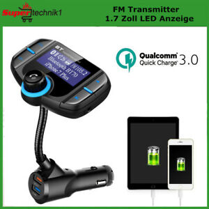 auto bluetooth fm transmitter kfz mp3 musik player qc3 0. Black Bedroom Furniture Sets. Home Design Ideas