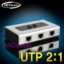 2 Port RJ45 AB Manual High Quality Switch Box 1Gbps CAT6 CAT5E selector LAN STP