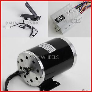 35-sprocket-1000-W-48V-DC-electric-motor-w-base-speed-controller-Foot-Pedal