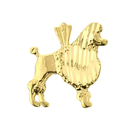 Fine Yellow Gold Poodle Dog Charm Pendant