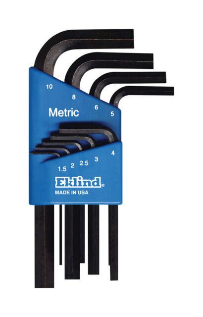 "Eklind Tool  5//64/"" to 1//4/""  SAE  Long Arm  Hex Key Set  Multi-Size in 7 pc."