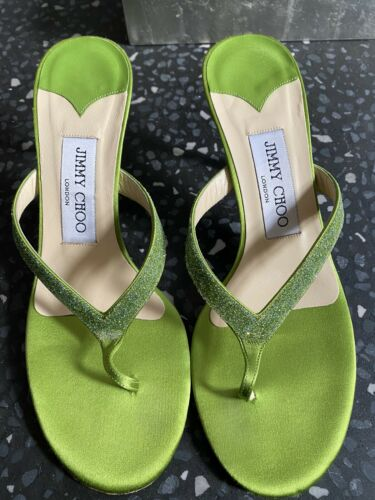 Jimmy Choo Green Thong Sandal Size 37