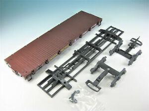 LGB-Ersatzteil-Wagenboden-43690-mit-Fahrgestellrahmen-und-Drehgestellen