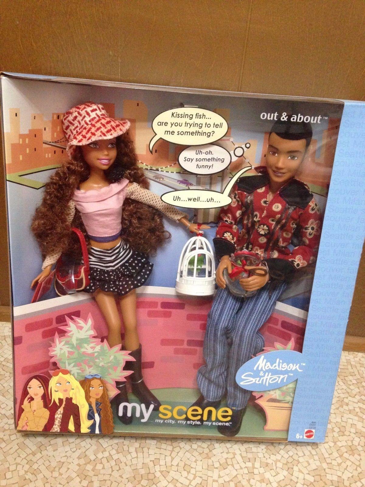 Barbie My Scene fuera & acerca de Madison y Sutton Muñeca Playset Nuevo Raro