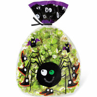 Spider Spooky Pop Halloween Shaped Treat Bags 15 Ct From Wilton 0035 -
