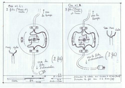à pied diamètre 65 mm 1 interrupteur à poussoir push switch BLANC réf A