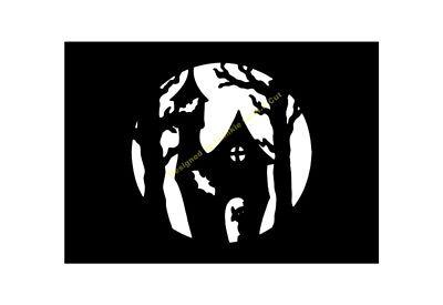 Discreet Halloween Stencil Spooky House A5/a4/a3/a2/a1/a0 350 Micron Hall094