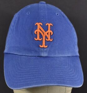44c07d86102 Blue New York Giants NY Logo Embroidered baseball hat cap adjustable ...