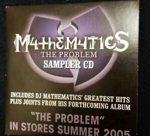 DJ MATHEMATICS - The Problem PROMO SAMPLER CD RARE Wu-Tang Clan GZA redman promo