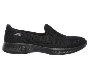 Dettagli su SKECHERS GOWALK 4 PRO 14170 BBK scarpe donna sportive mocassino slip on tessuto