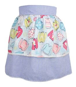 Ladies-Blue-Gingham-Pinafore-With-X-Mas-Jumper-Apron-Christmas-Fancy-Dress