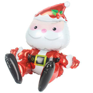 Large-Santa-Claus-Aluminum-Foil-Balloon-Christmas-Party-Decoration-Merry-Xma6ON