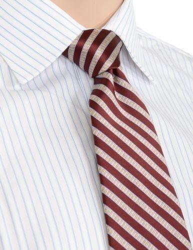 $89.50 Burgundy Red Diagonal Striped Mens 100/% Silk High Quality Silk Neck Tie