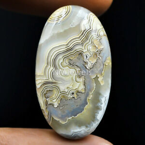 Cts-40-55-Natural-Laguna-Lace-Agate-Cabochon-Oval-Cab-Exclusive-Loose-Gemstone