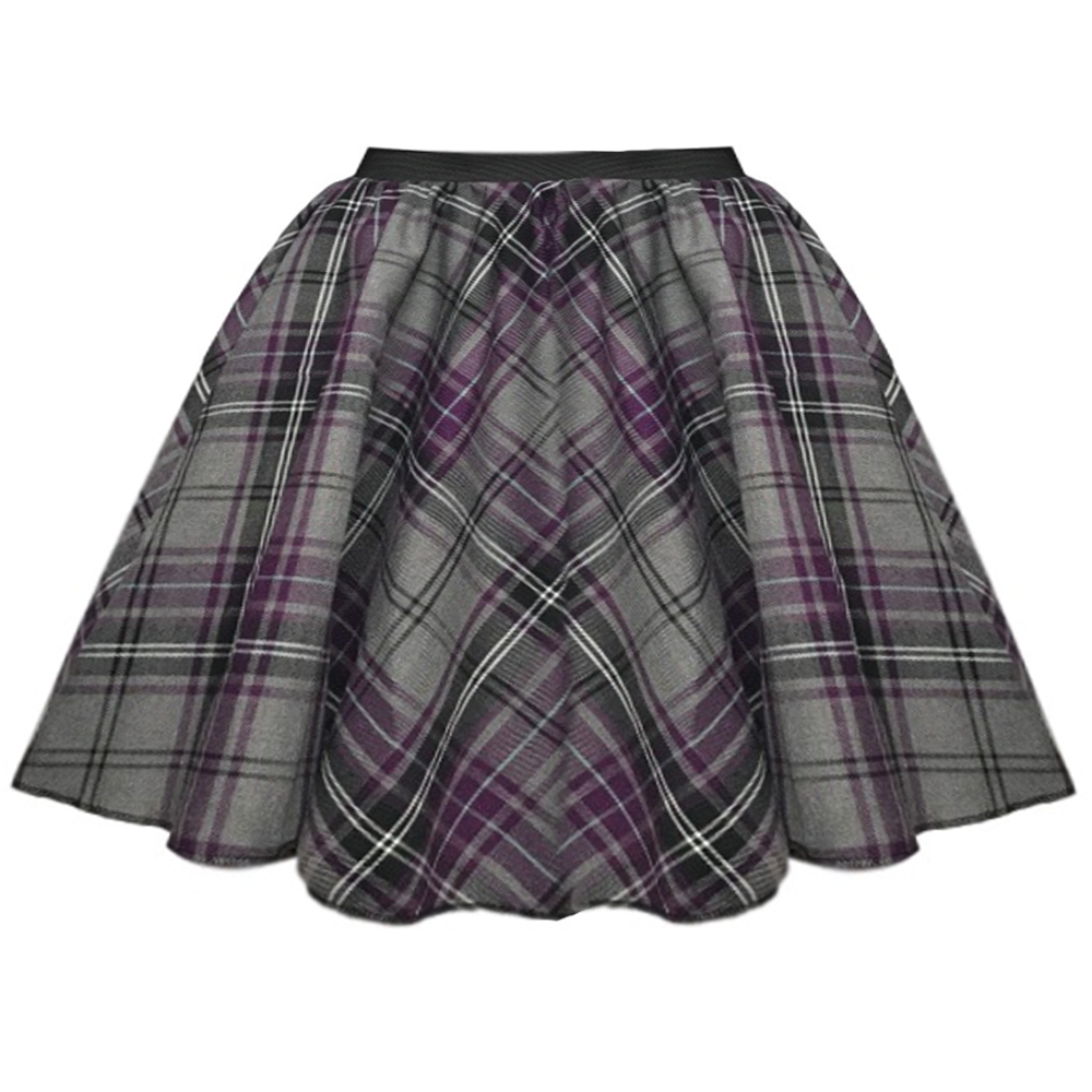 GIRLS TARTAN Check Dance Skirt Highland DANCE Hogmanay Burns Night School Rock