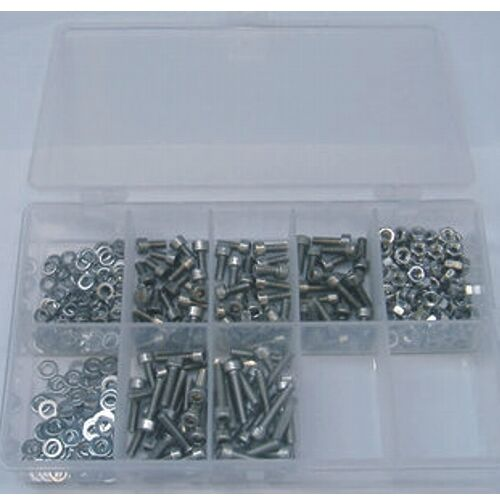 M6 Innensechskantschrauben Set 400 Teile Edelstahl A2 DIN 912