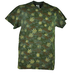 fa582dd1 Image is loading Marijuana-Camouflage-Distressed-Camo -Weed-Cannabis-Adult-Green-