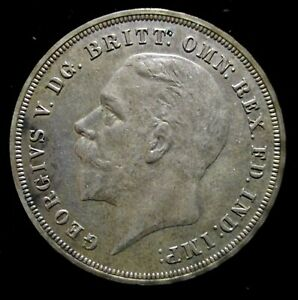 1935-GREAT-BRITAIN-SILVER-ONE-CROWN-DRAGON-SLAYER-UNCIRCULATED-COIN