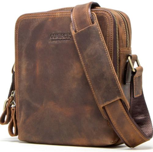 Genuine Leather Men's Messenger Bag Vintage Should