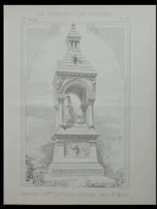 AgréAble Saint Geniez D'olt, Monument Marie Talabot -2 Planches-construction Moderne 1892 Pour Assurer Des AnnéEs De Service Sans ProblèMe