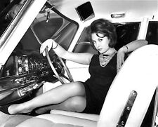 1960's JUNE PALMER (Girls and Cars) b/w  glamour photo