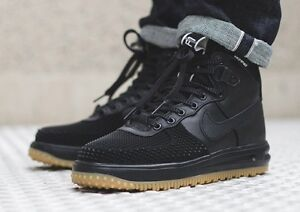 reputable site b00d7 14bb4 Image is loading Nike-Lunar-Air-Force-1-Duckboot-Black-Wheat-