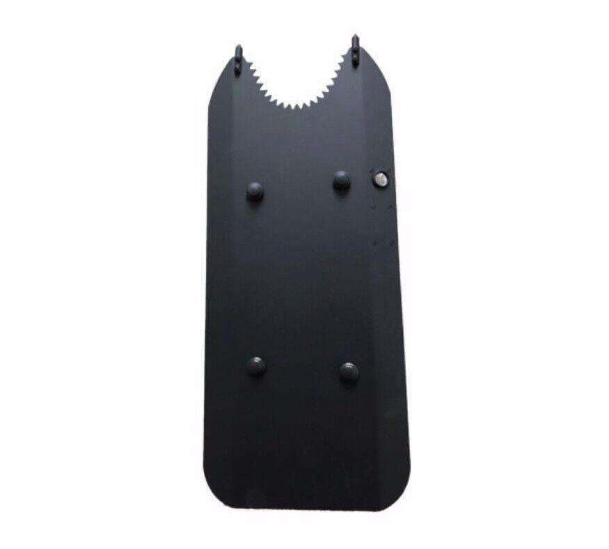 Tipo Seghettato Metallo Braccio TIPO SCUDO antisommossa per prossoezione legittima difesa SWAT