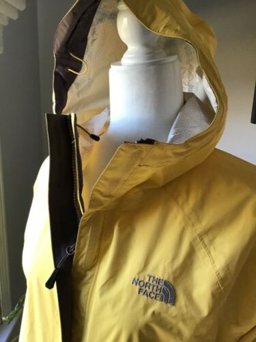 Women's The North Face Rain Coat Jacket Yellow Med