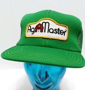 309a33a427673c Vtg 80s Ag Master Foam Mesh Trucker Hat Snapback Cap Farm Patch USA ...