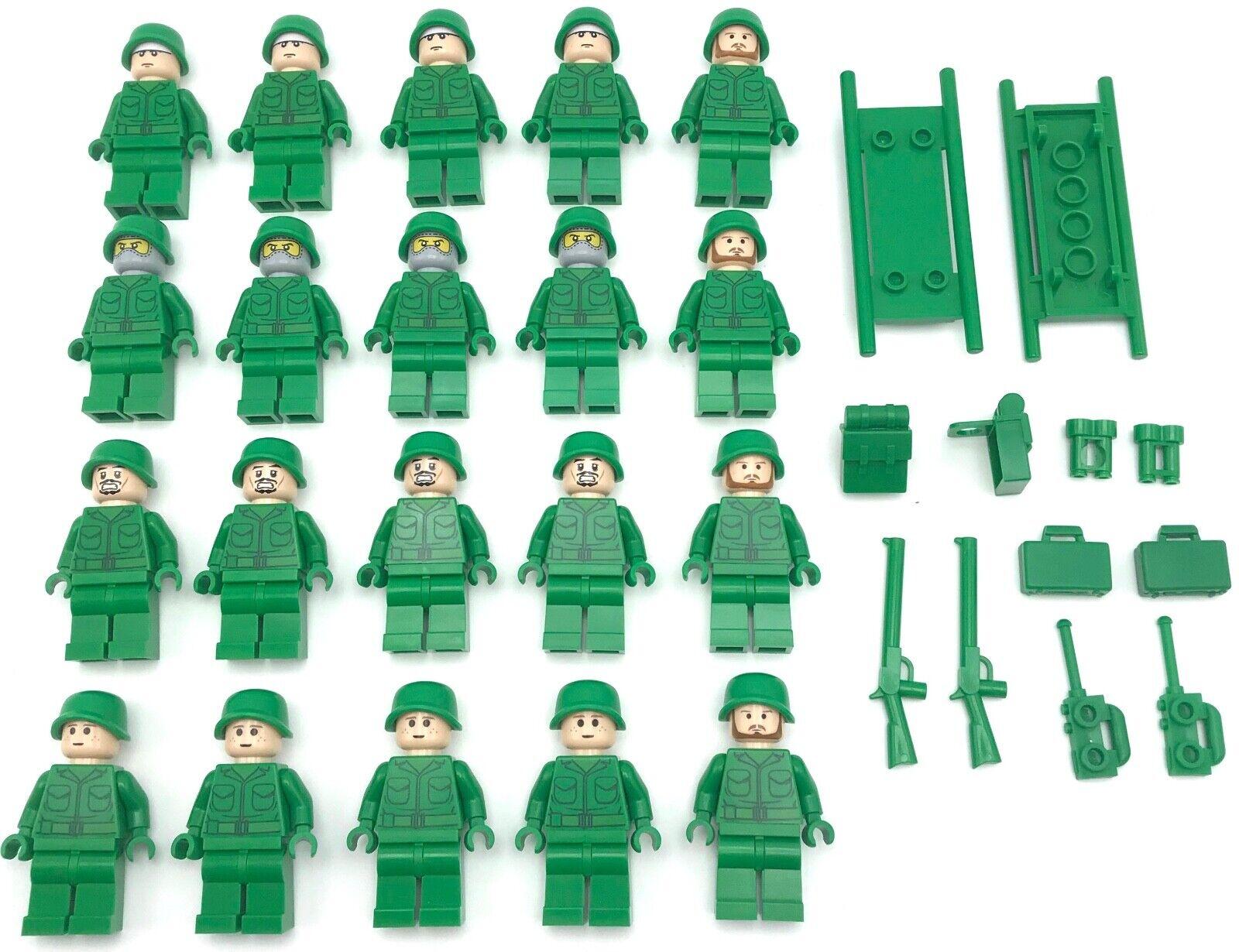 moda LEGO 20 nuovo ARMY MINIcifraS WORLD WAR 1 1 1 2 HERO MEN WITH WEAPONS SWAT cifraS  miglior prezzo